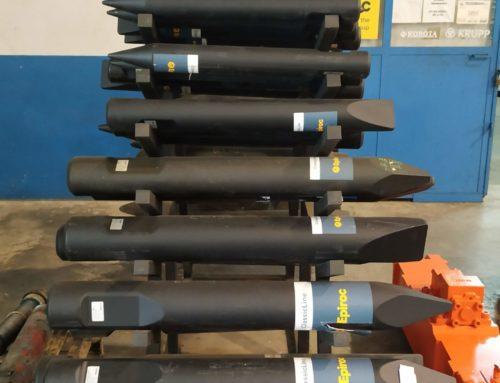 Punteros para martillos hidráulicos